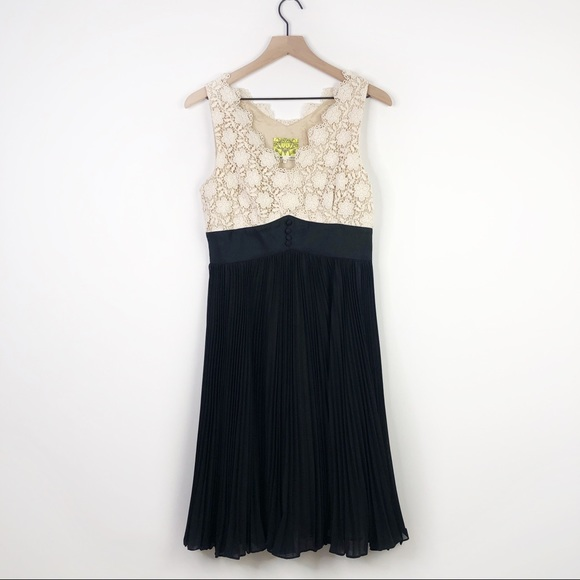 153bbbc7e7c0 Anthropologie Dresses | Floreat Anthro Lace Trim Sprightly Steps ...